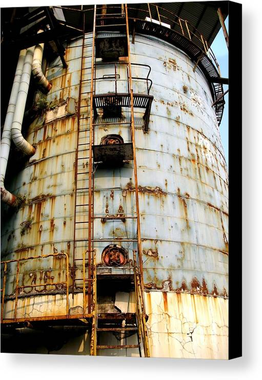 Silo Canvas Print featuring the photograph Old Storage Tank by Yali Shi