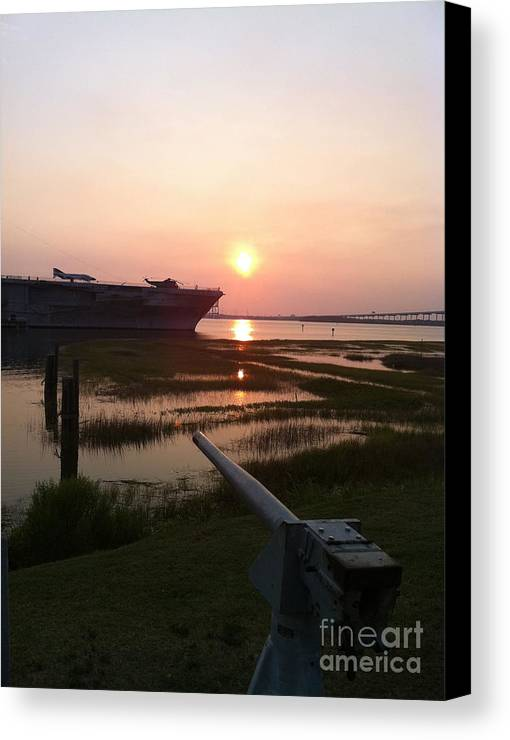 Canvas Print featuring the photograph Across The Bay by Dennis Richardson