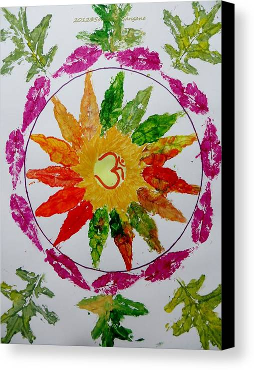 Radial Balance Canvas Print featuring the painting Autumn Chakra by Sonali Gangane