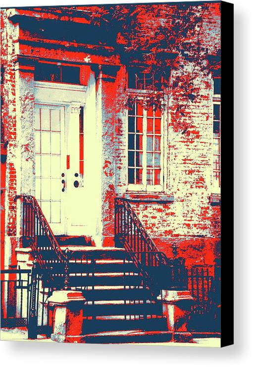 Brownstone Canvas Print featuring the photograph Brownstone 20 by Marvin Blatt