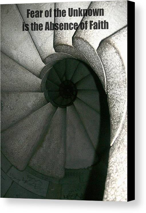 Patricia Canvas Print featuring the digital art Fear by Patricia Erwin