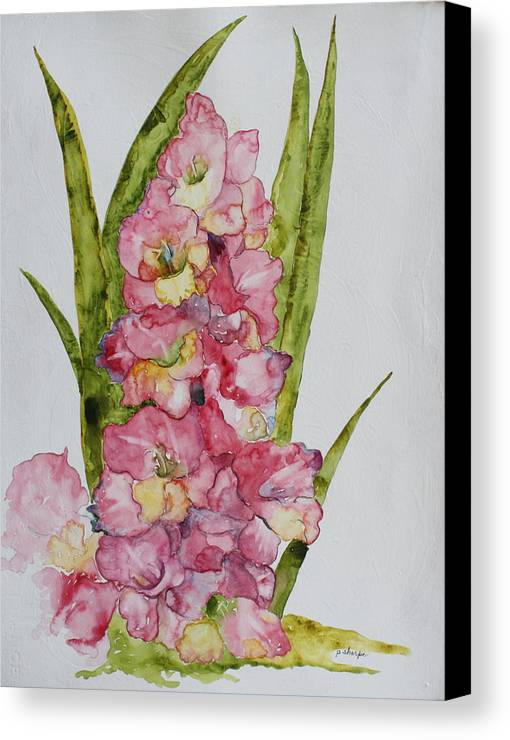 Gladiolas Canvas Print featuring the painting Gladiolas by Patsy Sharpe