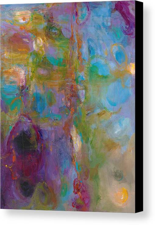 Abstract Expressionistic Canvas Print featuring the painting Infinite Tranquility by Johnathan Harris