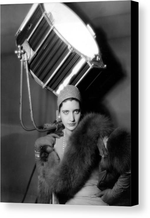 1920s Fashion Canvas Print featuring the photograph Kay Francis Around 1930 by Everett