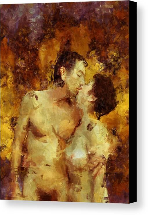 Kiss Canvas Print featuring the photograph Kiss Me Again by Kurt Van Wagner