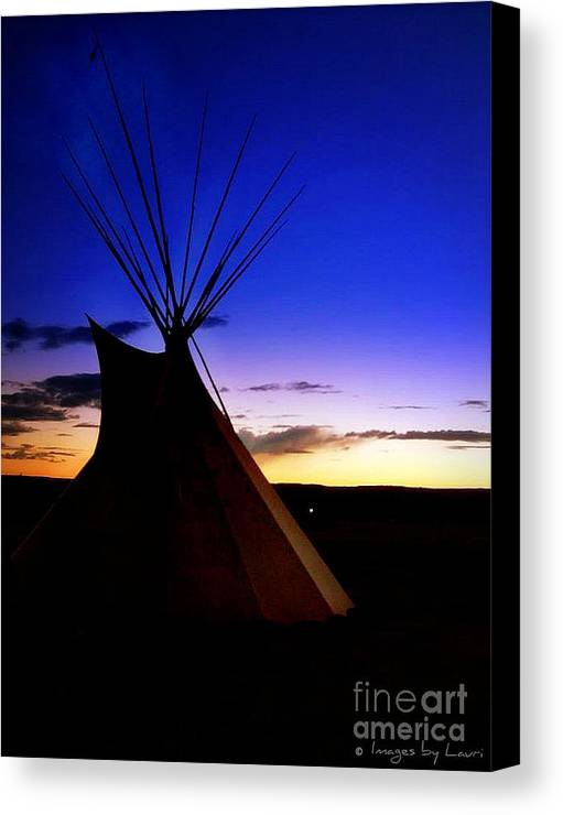 Canvas Print featuring the photograph Navajo Night by Lauri Taliman