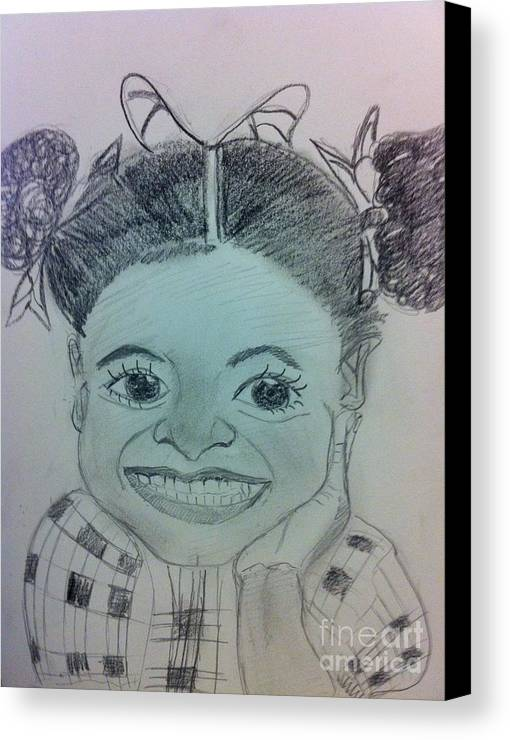 Missing Child And Death Canvas Print featuring the drawing The Late Jahessye Shockley by Charita Padilla