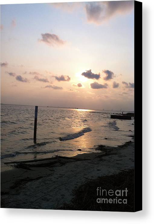 Canvas Print featuring the photograph The Sunset by Dennis Richardson