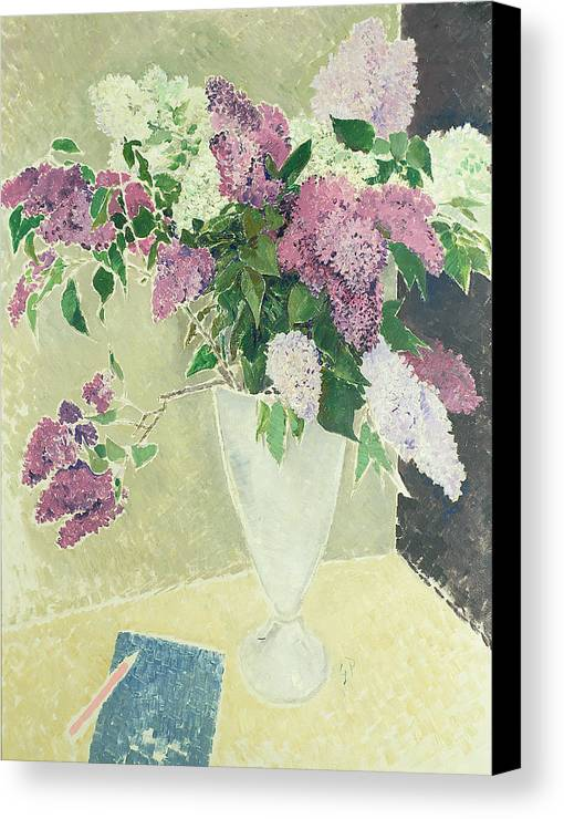 Lilacs Canvas Print featuring the painting Lilacs by Glyn Warren Philpot