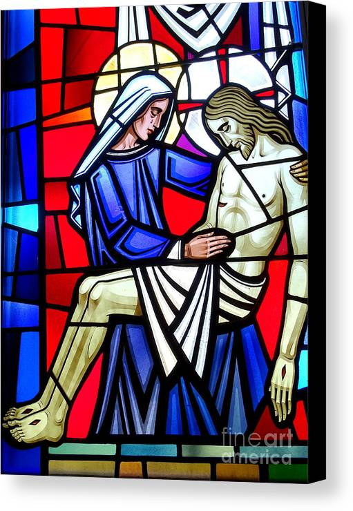 Stained Glass Canvas Print featuring the photograph A Mothers Love by Ed Weidman