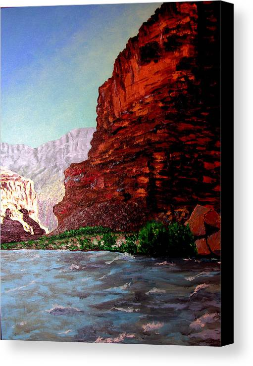 Grand Canyon Canvas Print featuring the painting Grand Canyon II by Stan Hamilton
