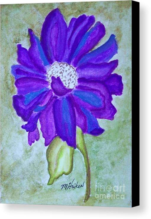 Purple Flower Canvas Print featuring the painting Purple Passion by Marsha Heiken