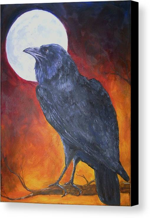Raven Canvas Print featuring the painting Sister by Deana Smith