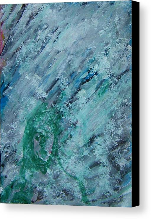 Abstract Canvas Print featuring the painting The California Snow by Judith Redman