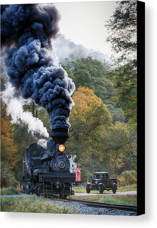 Country Canvas Print featuring the photograph Country Railroad Crossing by Richard Siggins
