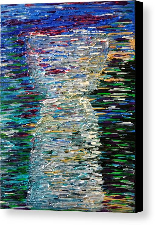 Abstract Canvas Print featuring the painting Abstract Latte Stone by Michelle Pier
