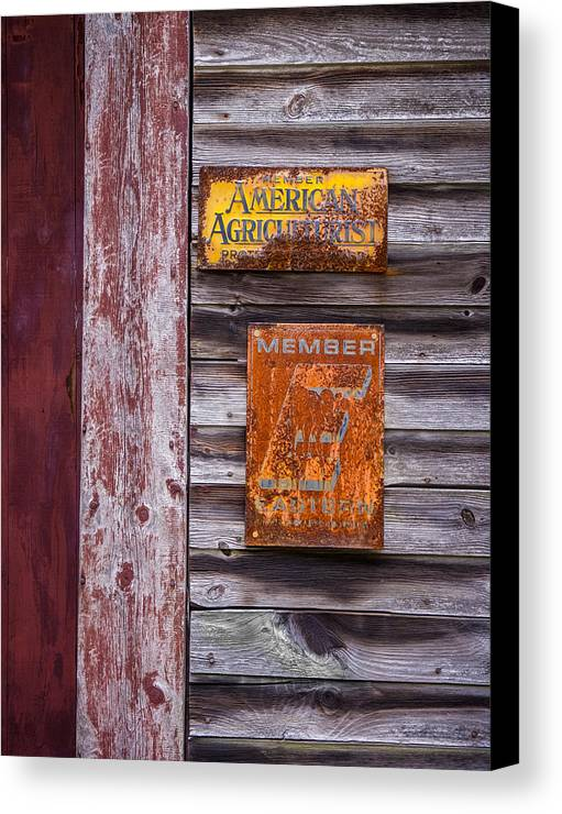 American Agriculturist Canvas Print featuring the photograph Memberships by Diane Moore