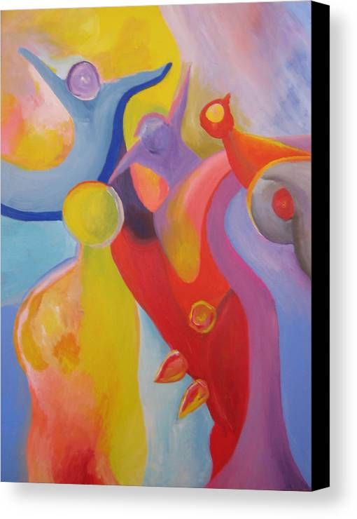 Abstract Canvas Print featuring the painting An Interdimensional Link by Peter Shor