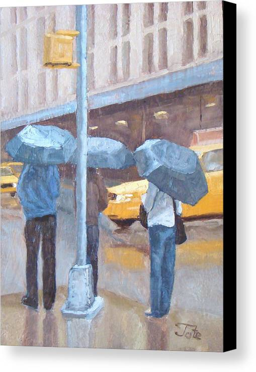 Impressionism Landscape Canvas Print featuring the painting Another Rainy Day by Tate Hamilton