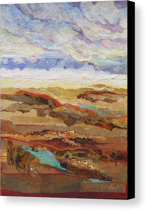 Abstracted Landscape Elements Canvas Print featuring the painting Arizona Reflections Number One by Don Trout