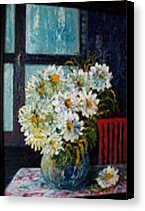 By The Window Canvas Print featuring the painting At Home by Carol P Kingsley