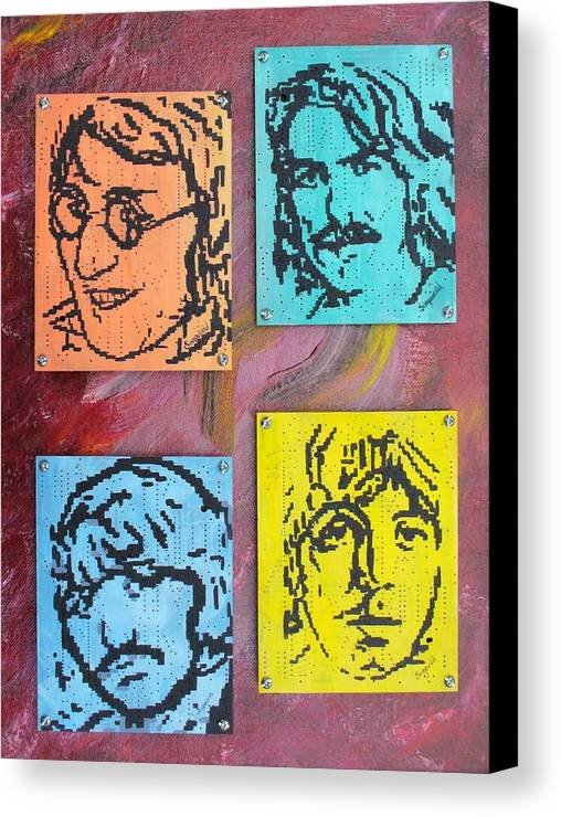 Beatles Canvas Print featuring the painting Beatles Forever by Cary Singewald