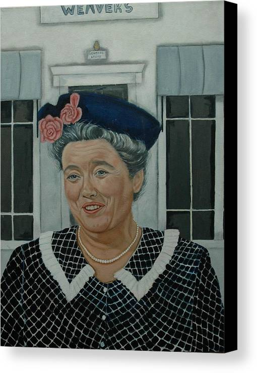 Aunt Canvas Print featuring the painting Beatrice Taylor As Aunt Bee by Tresa Crain