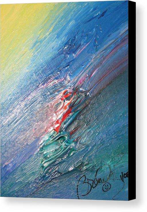 Abstract Canvas Print featuring the painting Bliss - F by Brenda Basham Dothage
