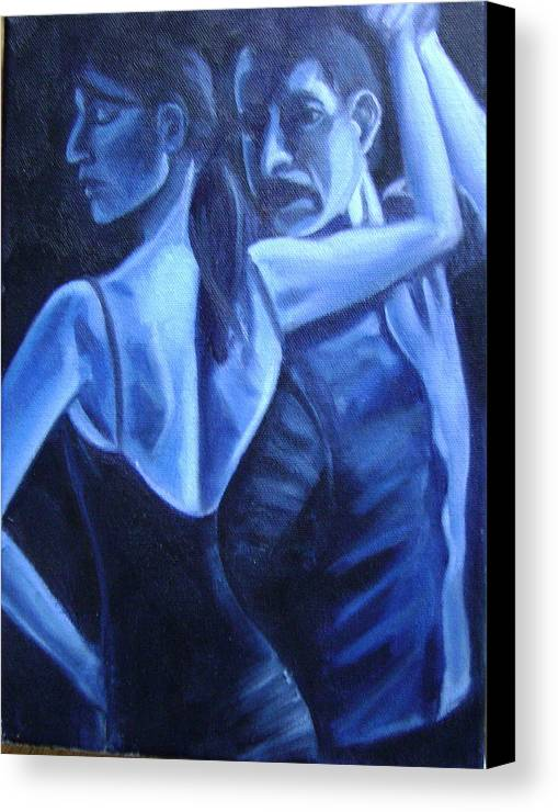 Canvas Print featuring the painting Bludance by Toni Berry