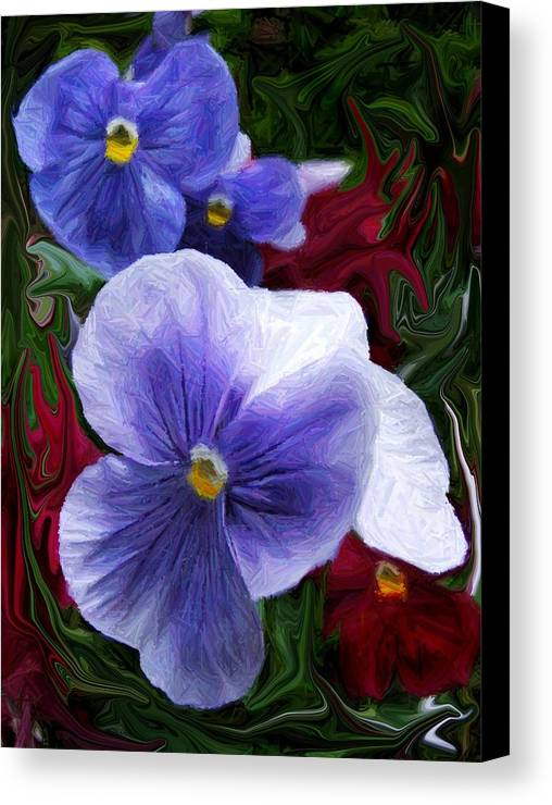 Flower Canvas Print featuring the photograph Blue Boys by Jim Darnall