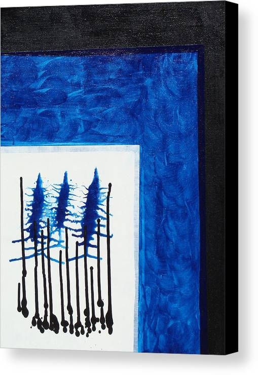 Abstract Canvas Print featuring the painting Blue II by Ofelia Uz