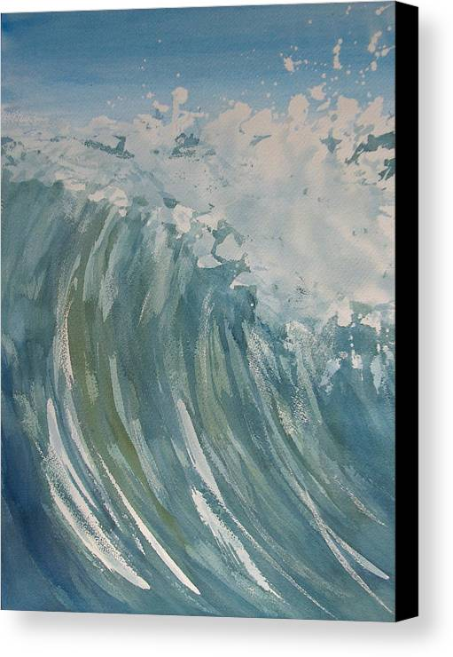 Ocean Canvas Print featuring the painting Breaker by Pete Maier