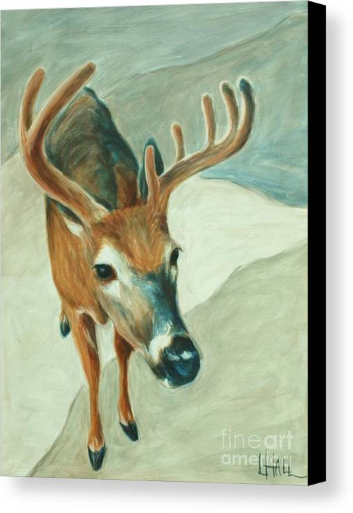 Bucky Canvas Print featuring the painting Bucky by Linda Hall