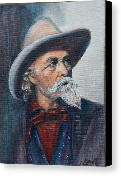 Man Canvas Print featuring the painting Buffalo Bill by Sylvia Stone