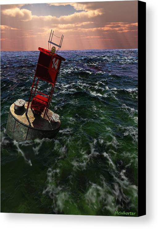 3d Canvas Print featuring the painting Buoy 14 by Williem McWhorter