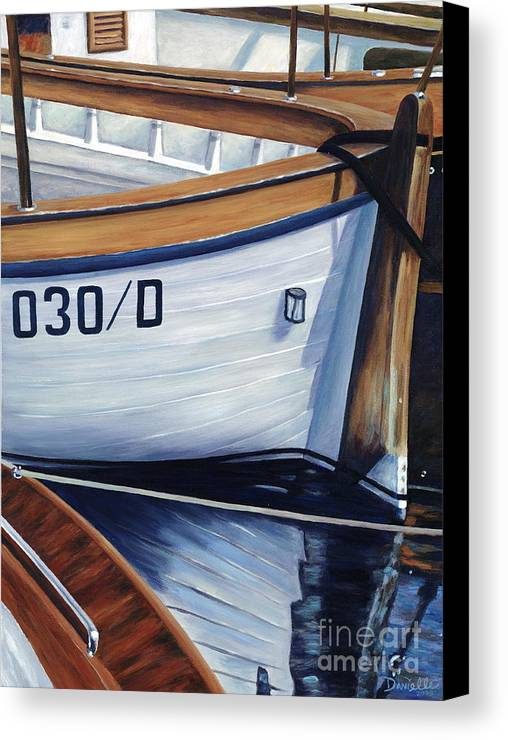 Nautical Canvas Print featuring the painting Capri Boats by Danielle Perry