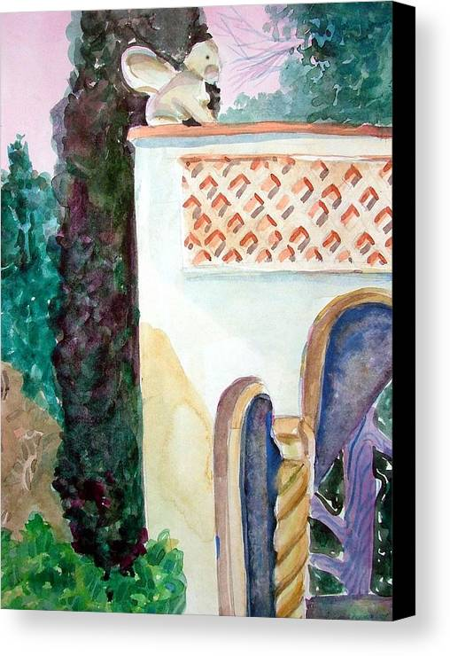 Capri Canvas Print featuring the painting Capri Sphinx by Mindy Newman