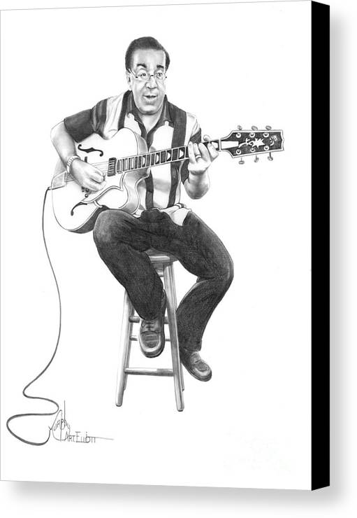 Drawing Canvas Print featuring the drawing Carmine D'amico by Murphy Elliott