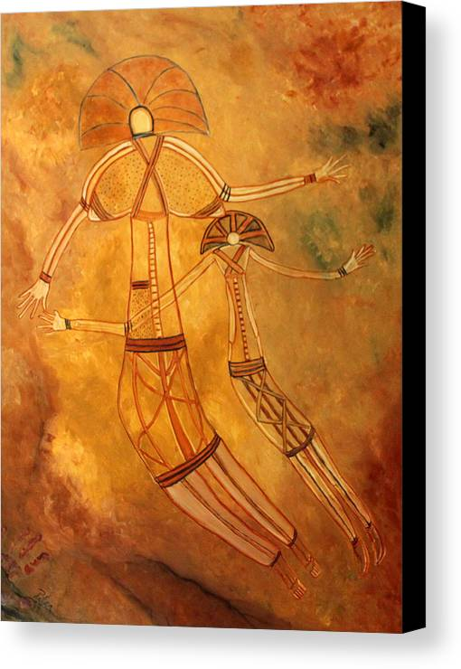 Cave Painting Canvas Print featuring the painting Cave Love by Pilar Martinez-Byrne