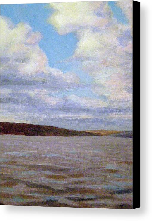 Landscape Canvas Print featuring the painting Cayuga Lake by Evelynn Eighmey