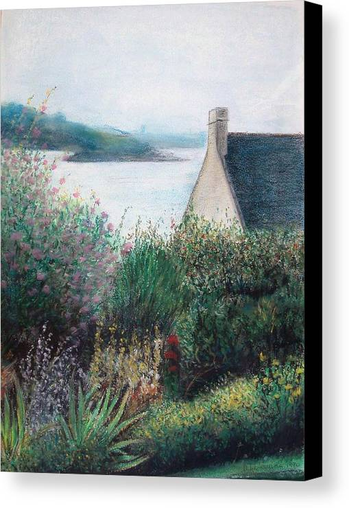 Landscape Canvas Print featuring the painting Chausey by Muriel Dolemieux