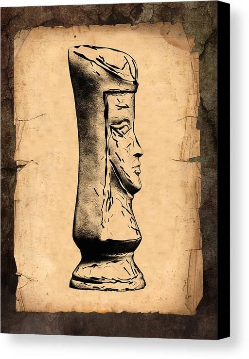 Queen Canvas Print featuring the photograph Chess Queen by Tom Mc Nemar