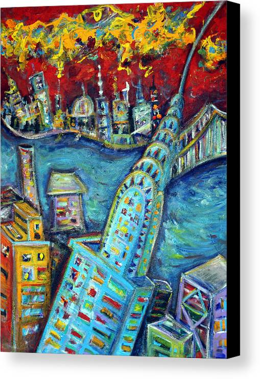 New York City Canvas Print featuring the painting Chrysler Building by Jason Gluskin