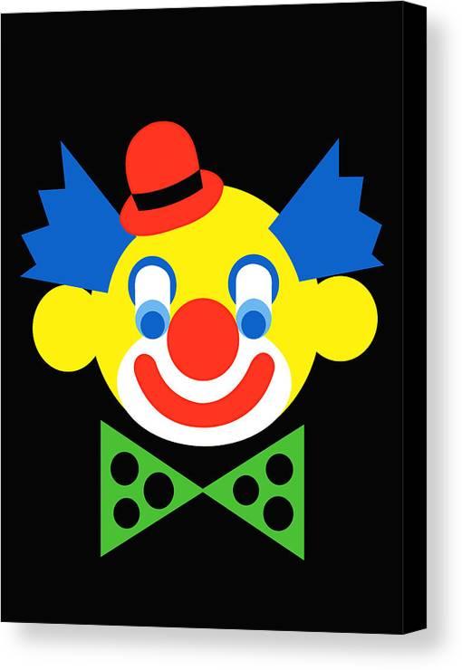 Clown Canvas Print featuring the digital art Clown by Asbjorn Lonvig