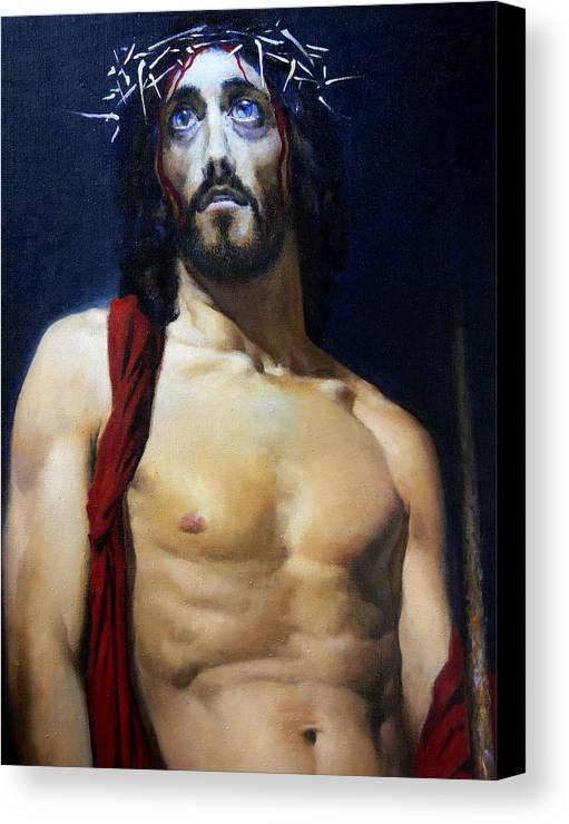 Altar Canvas Print featuring the painting Coronation B by Valeriy Mavlo