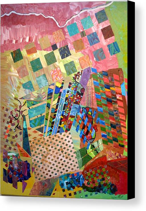 Crystal Canvas Print featuring the painting Crystal Energy by Eric Devan