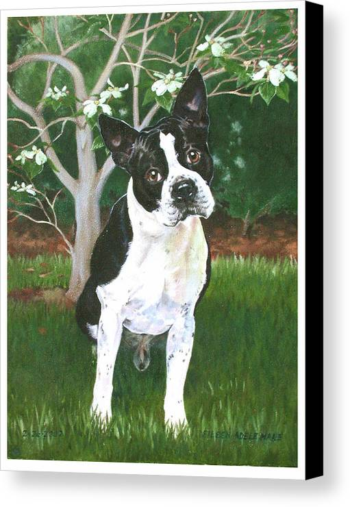Portrait Canvas Print featuring the painting Ditto by Eileen Hale