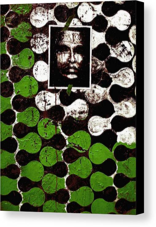 Mixed Media Prints Canvas Print featuring the painting Dna Fingerprints by Teo Santa