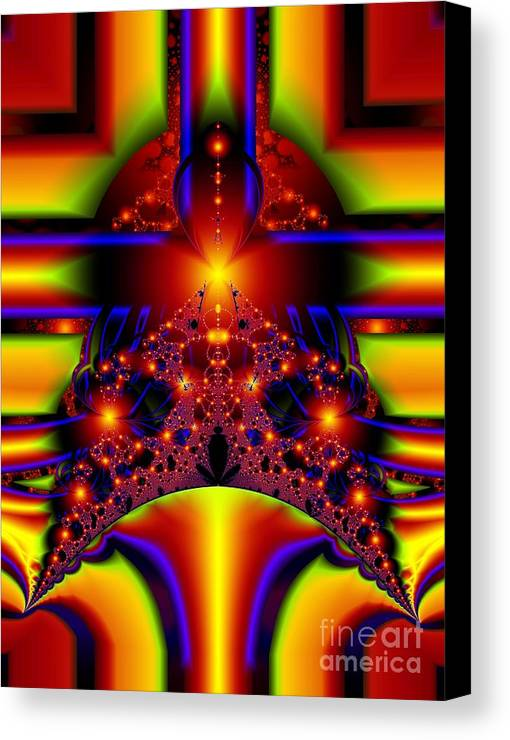 Door Art Canvas Print featuring the digital art Doorway To The Universe Detail by Ron Bissett