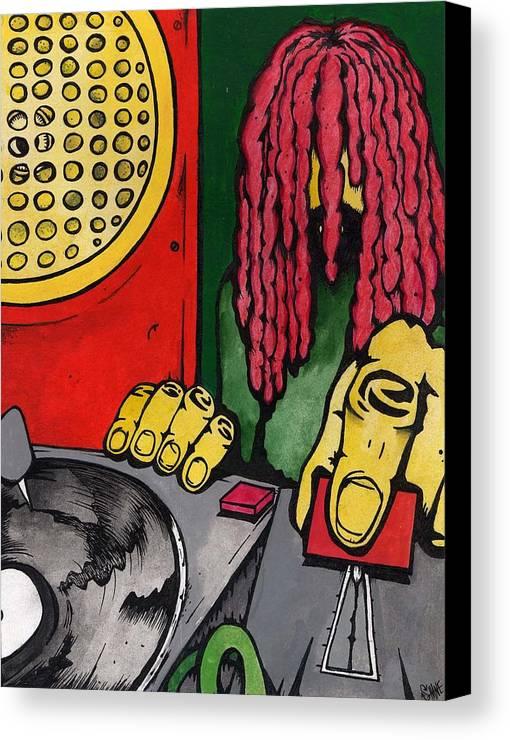 Dub Canvas Print featuring the painting Dub Club by Sam Hane
